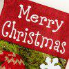 Large Three-dimensional Christmas Stockings Christmas Sock Gift Bags Christmas Candy Bags Christmas Day Decorations - RED
