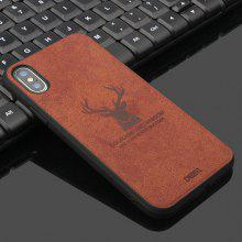Simple and Fashionable Fabric High Temperature Embossed Pattern Anti-fall Sticker Mobile Phone Case for iPhone Xs
