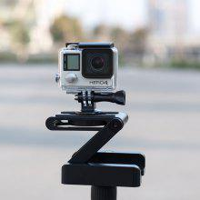 Folding Z Shape Camera Stand Holder Plate Gopro Desktop Tripod