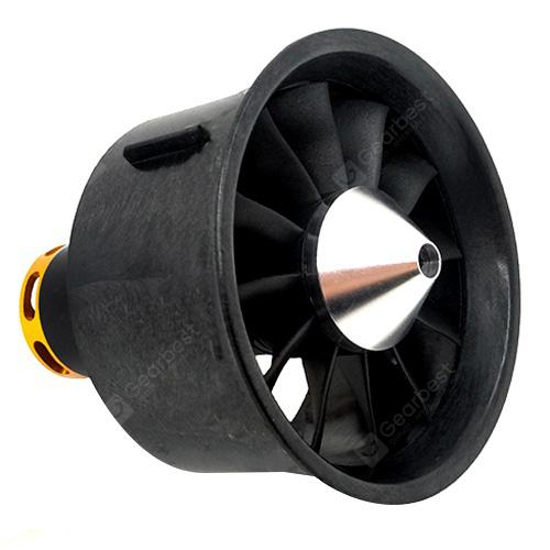 QX-MOTOR EDF 64MM QF2822 - 2400kv 6S Upgrade Section Ducted Violence 64mm Ducted 12 Leaf Aircraft Model Set