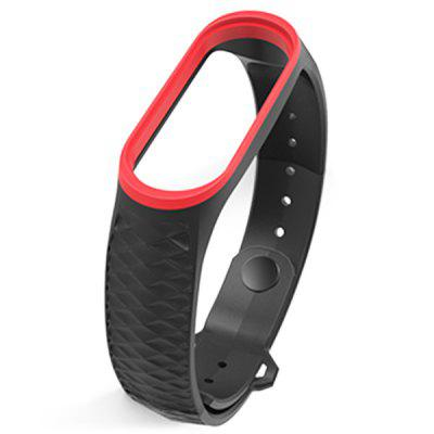 MIJOBS Wristband Aurora Silicone Two-color Reverse Buckle Strap Movement Diamond Replacement Belt for Xiaomi Mi Band 3