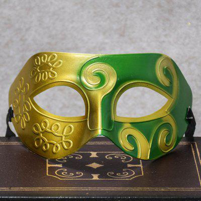 Dance Jazz Prince Flat Head Hard Plastic Rzeźbiona farba w sprayu Półmaska ​​Party Mask