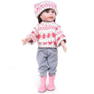 WW736 18 Inch Simulation Silicone Girl Rebirth Baby Doll Birthday Christmas Gift Toy
