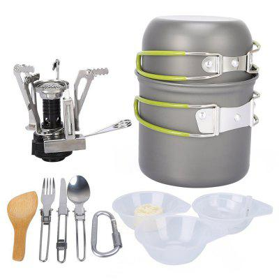 Outdoor Portable Camping Pot 1-2 People Picnic Cookware