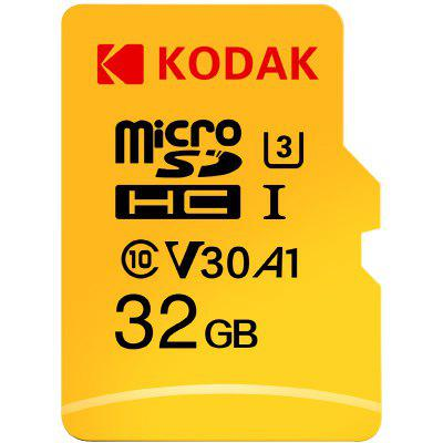 Kodak High Speed U3 A1 V30 TF / Micro SD Memory Card / 32GB / 64GB / 128GB Support 4K - YELLOW 32GB
