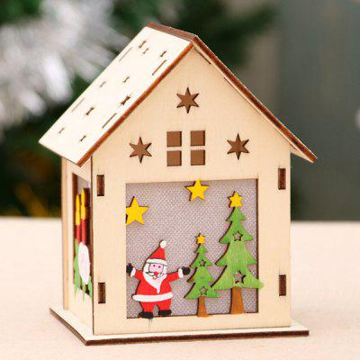 Luminous Wooden House Snow House Hotel Bar DIY Gift DIY Christmas Window Decoration