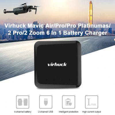 Virhuck V-2 Mavic Air/Pro/Pro Platinumas/2 Pro/2 Zoom 6 In 1 Battery Intelligent Rapid Multi Charger(US PLUG)