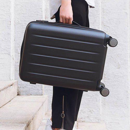 Gearbest Xiaomi Youpin 90FUN 1A Universal Wheels Traveling Case Suitcase - BLACK 20 INCH