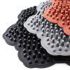 Lotus Shape Ventilation Dry and Breathable Car Supplies Sweatproof Silicone Cushion - BLACK