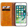 Straw Hat Prince Oil Wax Pattern PU Leather TPU Bottom Shell with Card Slot Bracket Function Mobile Phone Case for iPhone 7 Plus / iPhone 8 Plus - LIGHT BROWN
