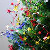 Christmas Decoration Five-pointed Star Wire Rattan 7.2 M - LAVA RED