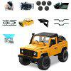 1 Set MN - 91 Kit 1 / 12 2.4G 4WD Rc Car Crawler Monster Truck Without ESC Transmitter Receiver Battery - YELLOW