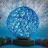 Bedside Romantic Star Projector Creative Night Light USB Dimming Twine Wood Rattan Table Lamp - BLEU