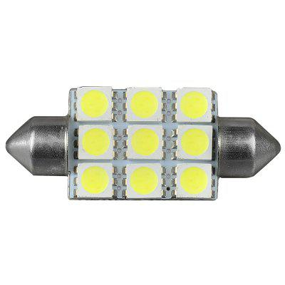 Car LED Headlight Reading Roof Lamp Double-tip D-light-39MM-9SMD-5050 White Light ( 5PCS )