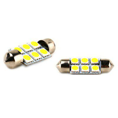 Car LED Car Roof 5050 Interior Double-point Reading Light 39MM-6 Light 5PCS
