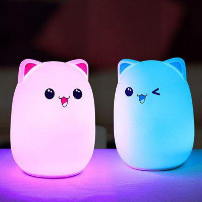 Cute Bear Night Light Patted Touch Colorful Dimming Lights