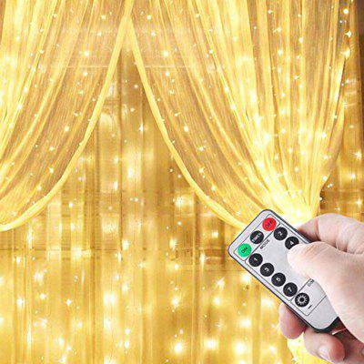 300-LED Gordijn String licht voor Party Decoration met afstandsbediening