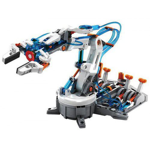 Gearbest Children's Science Model Assembly Set Boy DIY Hydraulic Power Machine Arm Only Water Without Battery - WHITE