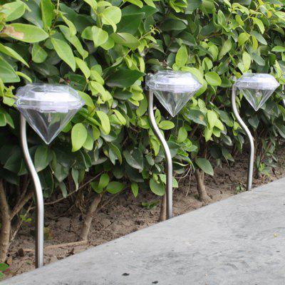 Solar Power Diamond Shape Lawn Light for Outdoor Garden