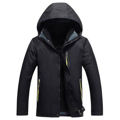 Autumn and Winter Jacket Two-piece Three-in-one Plus Velvet Thick Warm Hiking Suit