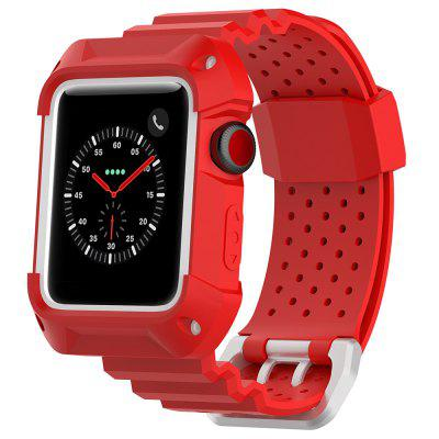 Universal Two - color Box Breathable Rubber Neutral Strap iWatch Sports Strap Applicable To Apple Watch 1 / 2 / 3 Generation