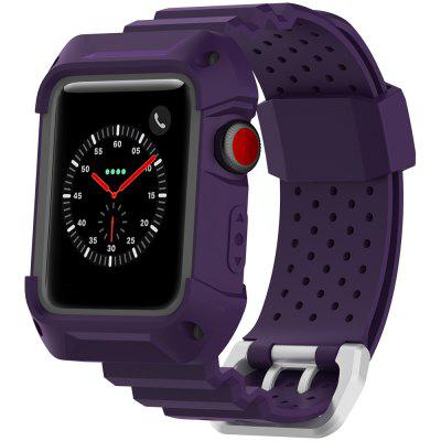 Applicable To Apple Watch 1 / 2 / 3 Generation Universal Two - color Frame Breathable Rubber Neutral Strap Iwatch Sports Strap 38mm