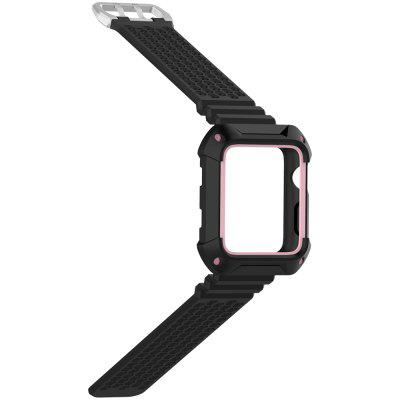 iWatch Sports Strap Universal Two - color Box Breathable Rubber Neutral Strap Applicable To Apple Watch 1 / 2 / 3 Generation