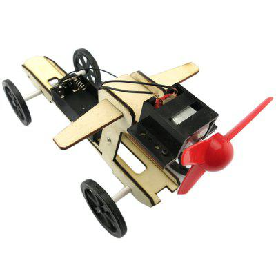 DIY Puzzle Assembling Small Wind Blade Wind Car Model Toy