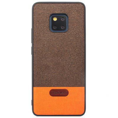 Simple Fashionable Fabric Pattern Stitching Leather Soft Edge Anti-fall Mobile Phone Case for Huawei Mate 20 Pro