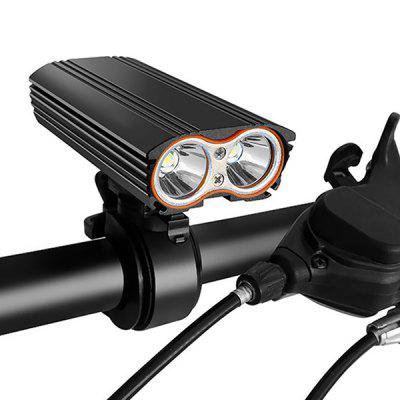 T6 Bicycle Light USB Charging 2000LM Super Bright Mountain Light Headlight