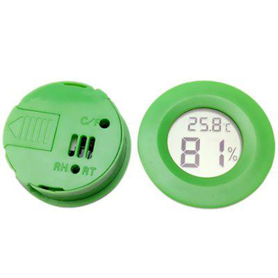 Round Embedded Electronic Thermometer Pet Hygrometer Acrylic Box