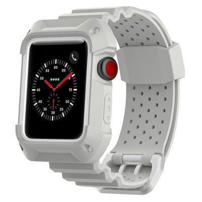 Correa de deportes de dos colores, transpirable, caucho neutro, 42 mm, universal, para Apple Watch 1/2/3