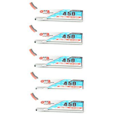 450mAh 80 / 160C 1S 3.7V Battery with PH2.0 Plug for RC FPV Racing Tiny7 Drone Quadcopter Toys 5pcs