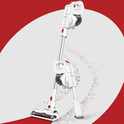 Alfawise FJ166A Cordless Handheld Stick Vacuum Cleaner Rechargeable Battery / Lightweight - WHITE EU PLUG