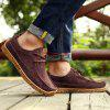 Men's Oxford Shoes Casual Simple Style - RED WINE