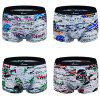 Men Ice Silk Stylish Printing Boxers - MULTI-A