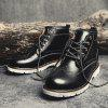 Leisure Comfortable High-top Leather Boots for Men - BLACK