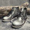 Leisure Comfortable High-top Leather Boots for Men - GRIS