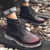 Leisure Comfortable High-top Leather Boots for Men - RED WINE