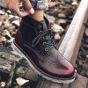 Leisure Comfortable High-top Leather Boots for Men - VINO ROSSO