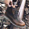 Leisure Comfortable High-top Leather Boots for Men - BRUN