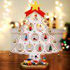 Christmas DIY Wooden Christmas Tree Ornament Gift for Children Home Table Decoration Party Supplies - SHAMROCK GREEN