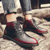 Men Casual Boots - RED WINE
