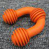 U-shaped Dog Teether Toy Bite-resistant Rubber Toy for Puppies - ORANGE