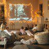 Remote Control Light String Christmas LED Copper Wire Starry Lamp 20m - COOL WHITE