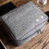 Storage Bag for Mobile Phone Data Cable Charger - DARK GRAY
