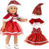 18 inch American Girl Rebirth Baby Doll Christmas Series Clothes - MULTI-C