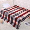 Plush Double Thick Plaid Printing Increase Bed Blanket - MULTI-A