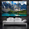 Triptych Core At The Foot Of The Beautiful Snowy Mountain Oil Painting 3pcs - MULTI