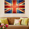 Triptych Core Flag Oil Painting 3pcs - MULTI